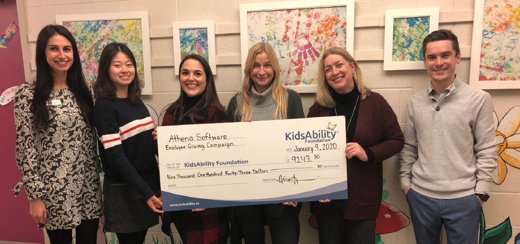 Athena Software Donates to KidsAbility