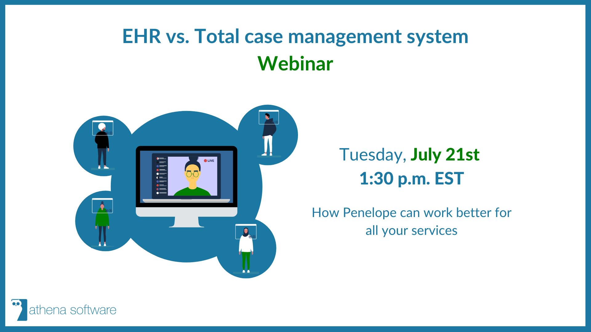 ehr vs case management webinar invitation