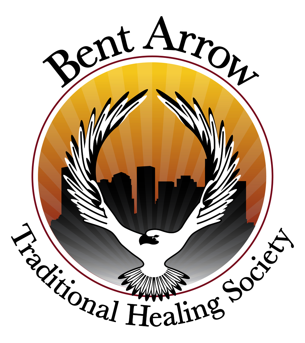bent arrow traditional healing society logo